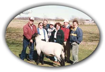 Some OSSRA Members with the OSSRA 2nd Referene Sire.
